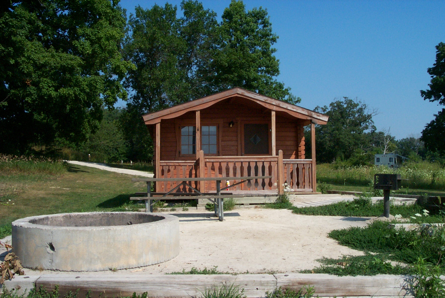 Cabin at Shabbona Lake State Park Camp Ground